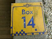 Indianapolis Motor Speedway Metal 2-sided Sign Racing Indy 500 Vtg Rare Box 14