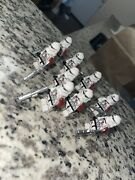 9 Star Wars Barc / Reacon / Neyo Lego Clone Lot , With Clone Army Customs Weapon