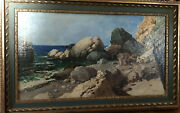 Russian Oil Painting - Rocky Shores Prior To.1960 Signed In Cyrillic Ya Tanson