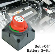 Both-off Dual Battery Selector Switch Disconnect Marine Boat Rv Vehicles