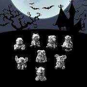 Original S925 Sterling Silver Punk Gothic Violent Elf Charm Ghost Punk Charms