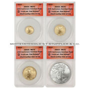 Set Of 4 2010 Gold And Silver Eagles Anacs Ms70 Fr First Releases Eagle Coins