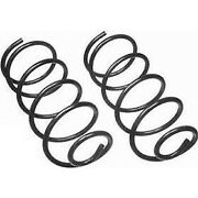 Moog New Set Of 2 Coil Springs Front For Chevy Suburban Express Van Blazer Pair