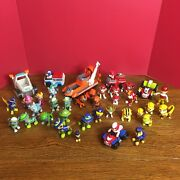 Lot Of 31 Paw Patrol Miscellaneous Figures + 6 Vehicles See Photos