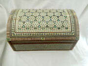 Egyptian Mother Of Pearl Wooden Inlaid Jewelry Box 13.5 X 9 Sale 527