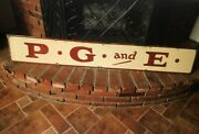 Antique Porcelain Pacific Gas And Electric Sign Reddy Kilowatt