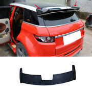 For Range Rover Evoque 12-2019 Real Carbon Fiber Roof Spoiler Tail Lip Wing Bar