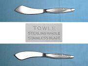 Towle Sterling Hollow Handle Master Butter Knife Contour No Mono