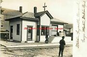 Depot Vermont Gaysville Rppc White River Railroad Station George Martin Agt