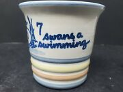 Louisville Stoneware 12 Days Christmas 7 Swans Swimming Replacement Punch Cup