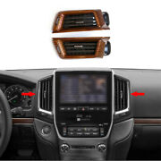Wood Grain Middle Air Outlet Vent Cover Trim For 2016-2021 Toyota Land Cruiser
