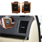 Wood Grain Landr Ac Air Outlet Vent Cover Trim For 2008-2021 Toyota Land Cruiser
