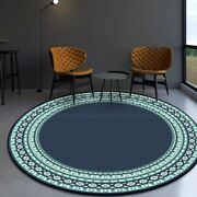 Round Carpets Tapete Bedroom Non-slip Floor Mat Home Decor Large Circle Area Rug