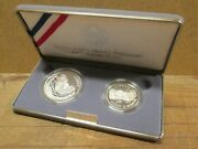 1991 Mount Rushmore Anniversary Proof 2 Coin Set 90 Silver Dollar Coin