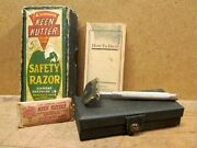 Keen Kutter No Kj11 Safety Razor W/ Case, Box, Blades And Instructions, C. 1919