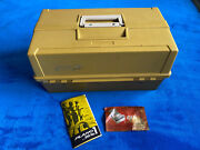 Vintage Tackle Box Plano 8106 With Lures + Fishing Gear Superb Condition Rare