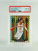 2019-20 Panini Mosaic Trae Young Stained Glass 4 Psa 10
