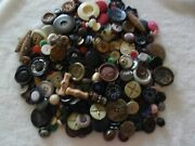Look Vintage Buttons Over 1-1/2 Lbs.metal Casein Celluloid Vintage Plastic B-85