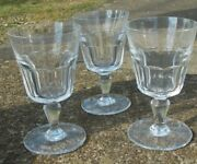 3 Baccarat Bretagne Tall Water Goblets