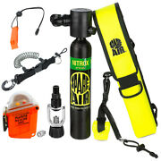Submersible Scuba Package Spare Air 300dg Nitrox And Rescue Gps W/ Accs.