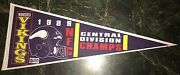 Minnesota Vikings 1989 Central Division Champs Pennant