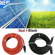 1 Pair Black + Red 10/12/14awg Solar Panel Extension Cable Wire Solar Connectors