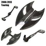 Motorcycle Blade Driver Floorboards + Brake Lever Toe Heel Shifter Levers For Hd