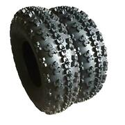 23x7-10 Tire Tread Depth 0.59 Inch 6 Ply Bias Rubber Set Of 2 Tires New