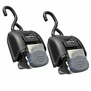 Boatbuckle G2 Stainless Steel Retractable Transom Tie-down Black 1 Pair