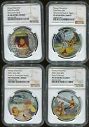2020 / 2021 Niue 2 Winnie Pooh And Friends Set Of 4 Ngc Pf69 Uc Silver Tigger