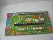 Vintage Foremost Industries Music In Motion Christmas 105 Lights String Rare