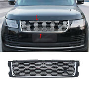 For Range Rover L405 2018-2020 Silver Front Center Mesh Grille Grill Cover Trim