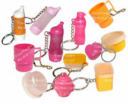 Tupperware Mixed Lot Of 12 Keychains And Fun Sized Mini Gadgets Pink Orange Rare