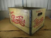 Vintage Classic Drink Pepsi-cola 24 Bottle Wood Shipping Crate Kankakee Ill