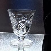 Old Baccarat Beaujeu Wine Glass Rare Vintage Antique Cut Glass Ship From Japan