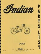 Enfield Indian  Lance Motorcycle Manual Parts List Reprnt