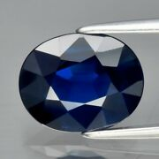 Gra Certificate Incl.2.26ct If Clean Oval Natural Royal Blue Sapphire Unheated