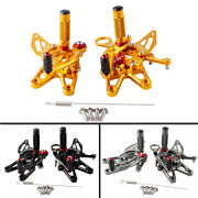 Rearset Footrest Footpegs Foot Pegs Pedal Fit Bmw S1000rr 2009-2014 Motorcycle
