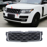 For Range Rover Iv 2018-2020 Gloss Black Front Center Mesh Grille Replacement