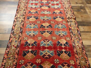 4and0394x11and039 Authentic Vintage Unique Hand Knotted Wool Oriental Antique Rug Runner