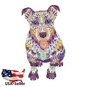 Unique Wooden Animal Jigsaw Puzzles Mysterious Cute Dog Puzzle For Adults Kids