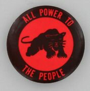 Black Panther Party 1968 Revolutionary Pin All Power To The People Civil Rights