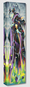 Disney Fine Art Treasures On Canvas Collection Flames Of Maleficent-tom Matousek