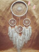 Handmade Hanging White Dream Catchers Home And Car Decor Feathers Wall Catcher