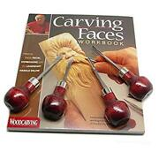 Enlow Carving Faces Workbook And 4pc Woodcarving Tool Set Customized By Harold