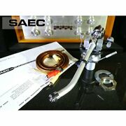 Saec We-407 / 23 Tone Arm Cx-5006a Phono Cable Etc. Included Ex+