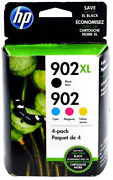 New Genuine 902xl/902 4 Pack. Black Xl And Cyan Magenta And Yellow Cartridge