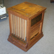 Antique Oak Spool Cabinet Andndash Clarkandrsquos Ont Advertising - Sewing Country Store