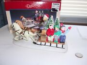 1993 Lemax Dickensvale Country Sleigh Ride Porcelain Team Of Horses Orig Box