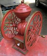 Antique Double Wheel Swift Mill Coffee Grinder